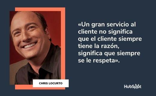 Frases célebres de servicio al cliente: Chris LoCurto