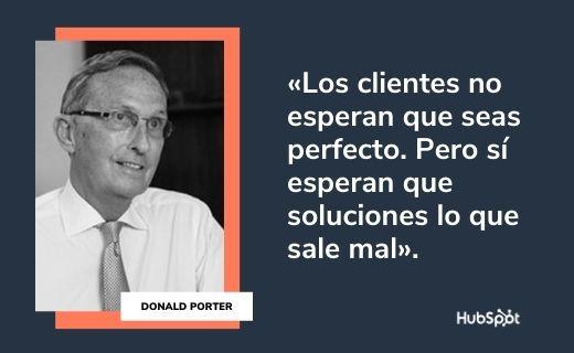 Frases célebres de servicio al cliente: Donald Porter