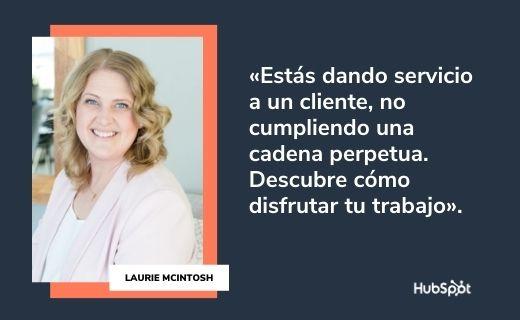Frases célebres de servicio al cliente: Laurie McIntosh