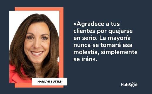 Frases célebres de servicio al cliente: Marilyn Suttle