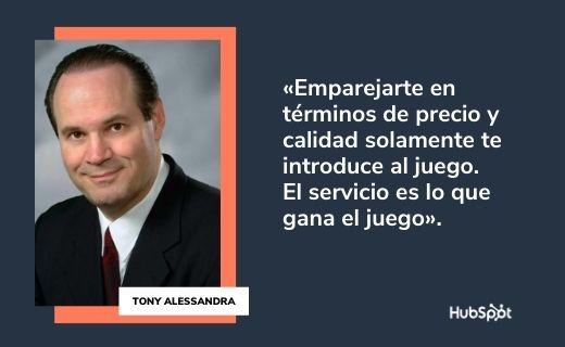 Frases célebres de servicio al cliente: Tony Alessandra
