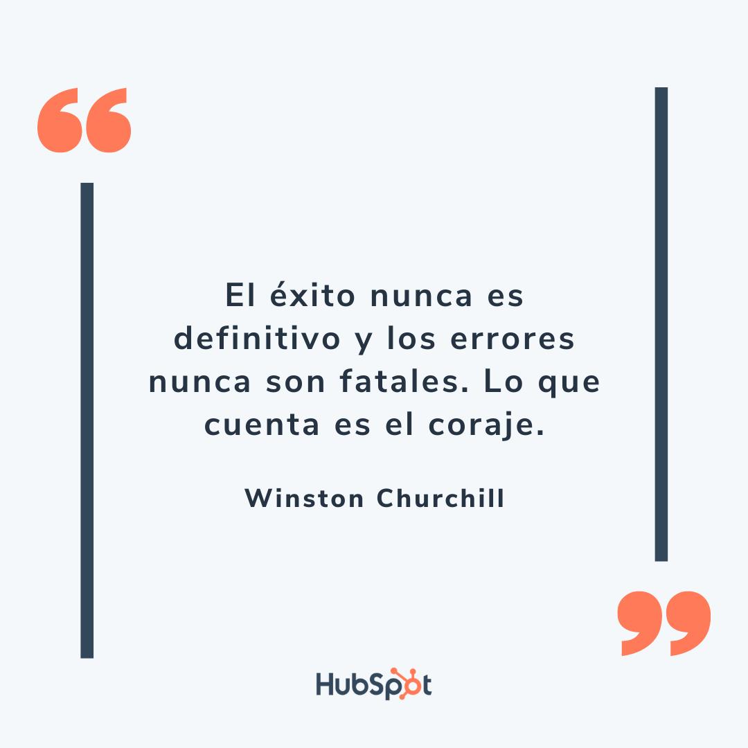 Frase de ventas exitosas de Churchill