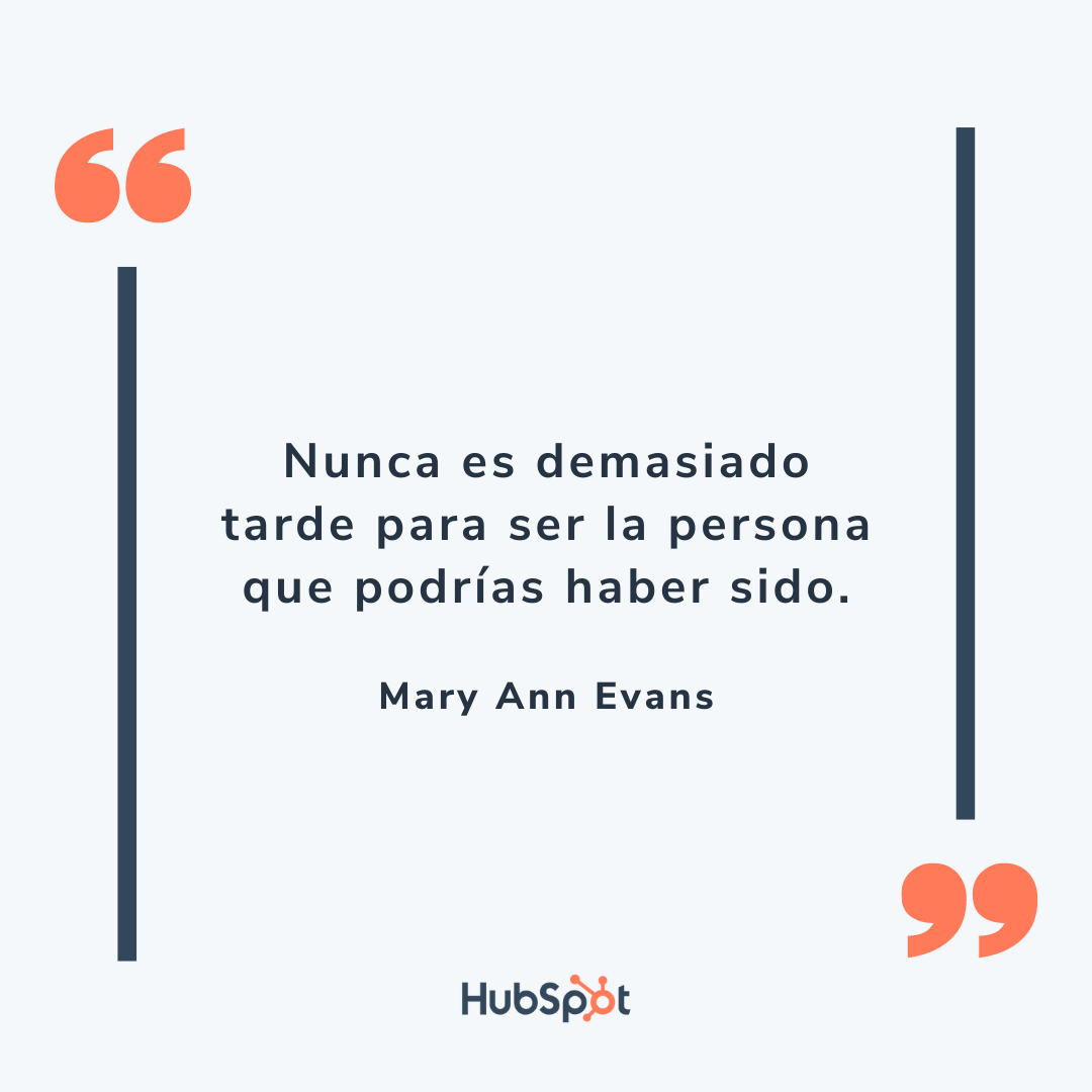 Frase motivadora para tu equipo de ventas de Mary Ann Evans