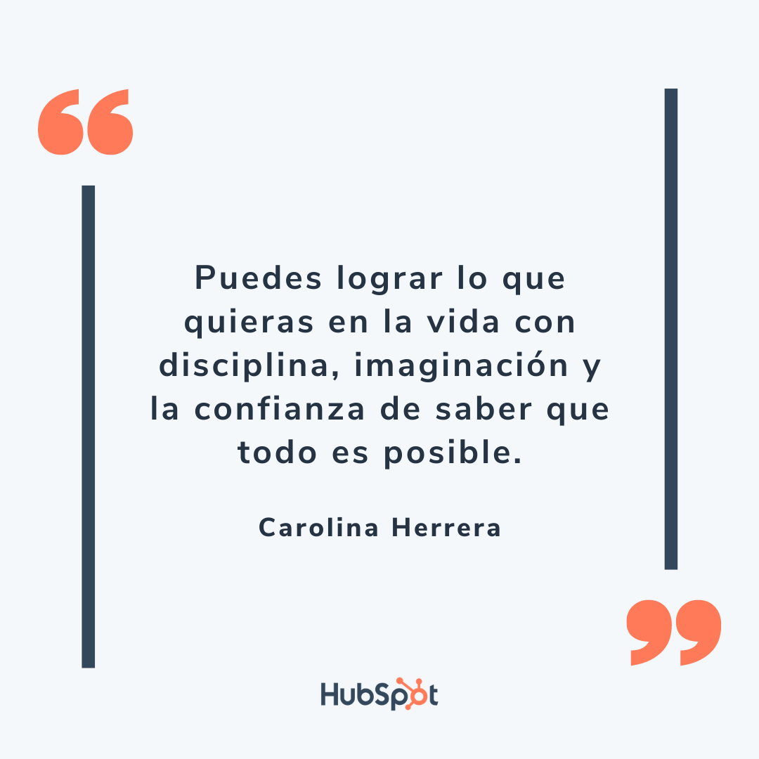 Frase de ventas exitosas de Carolina Herrera