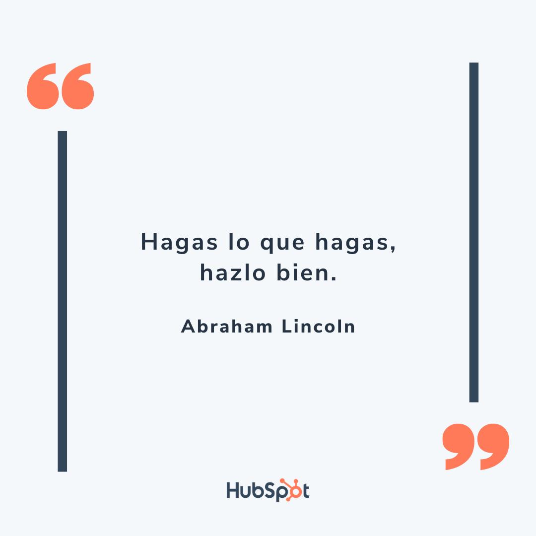 Frase de ventas exitosas de Lincoln