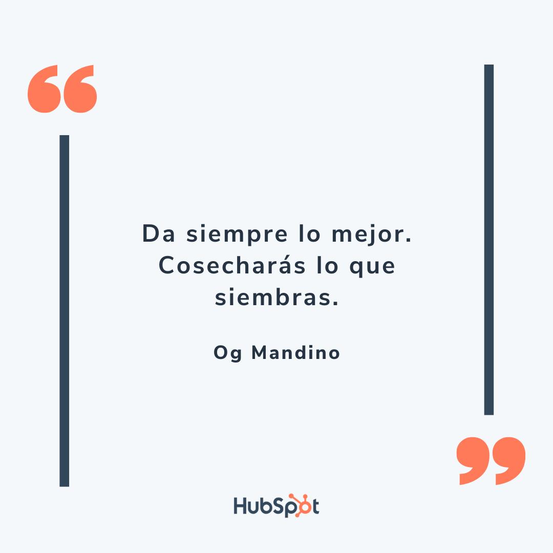Frase motivadora de ventas de Mandino