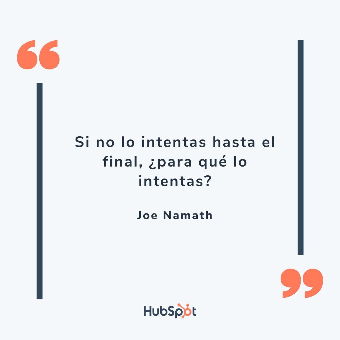 Frase de ventas exitosas de Namath