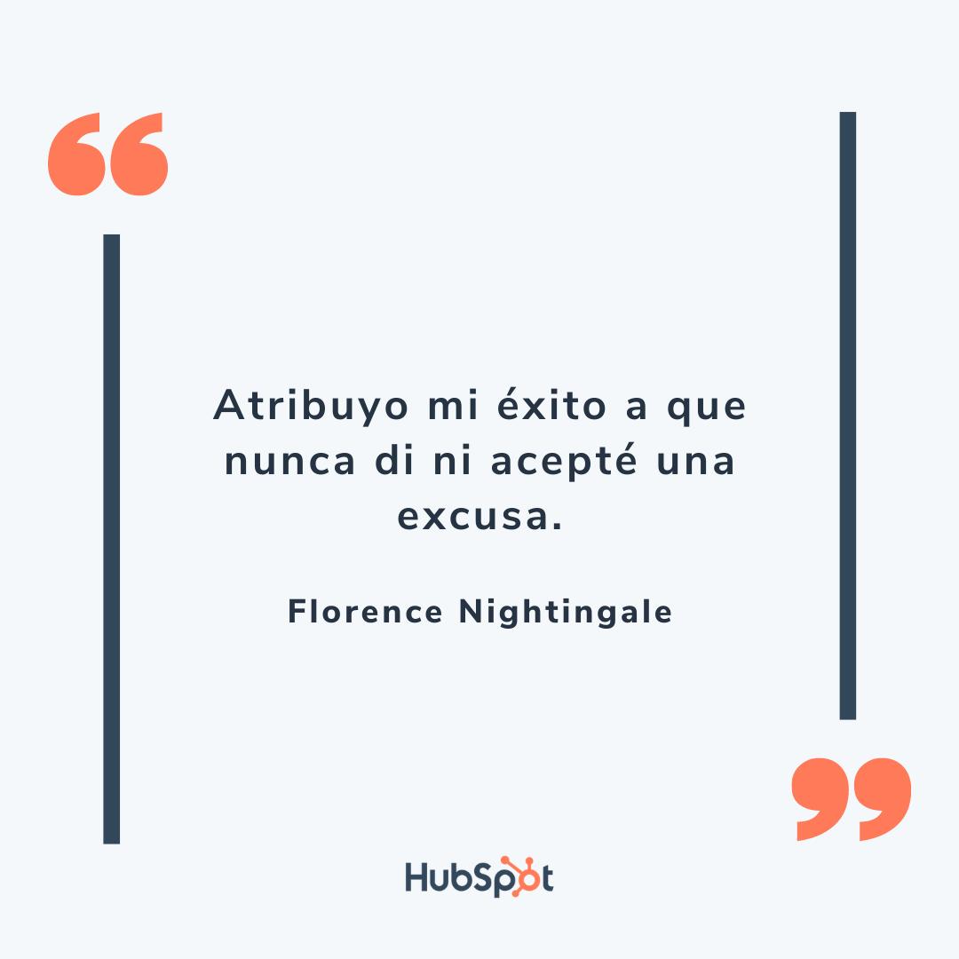 Frase de superación en ventas de Nightingale