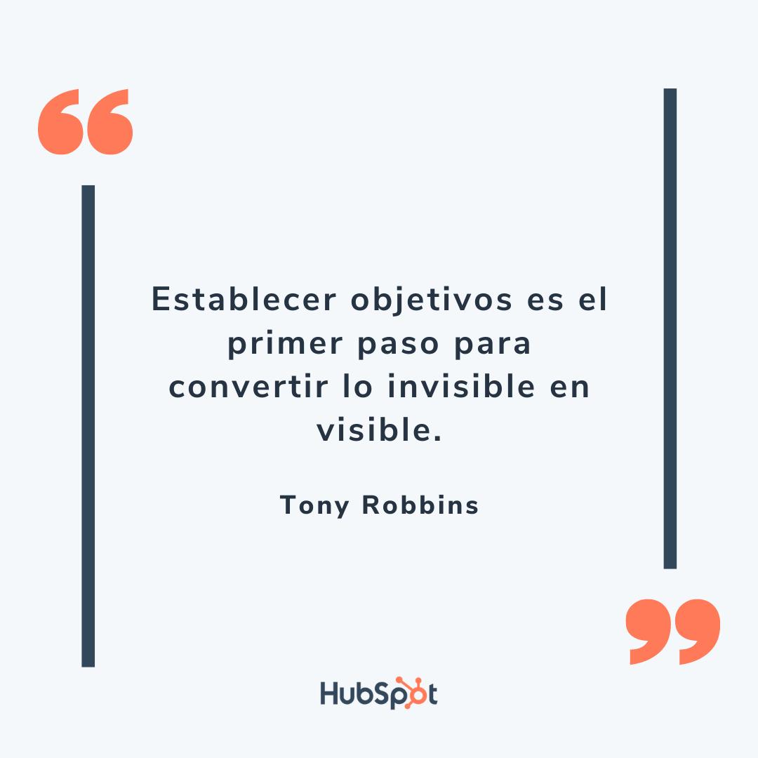 Frase motivacional de ventas de Robbins
