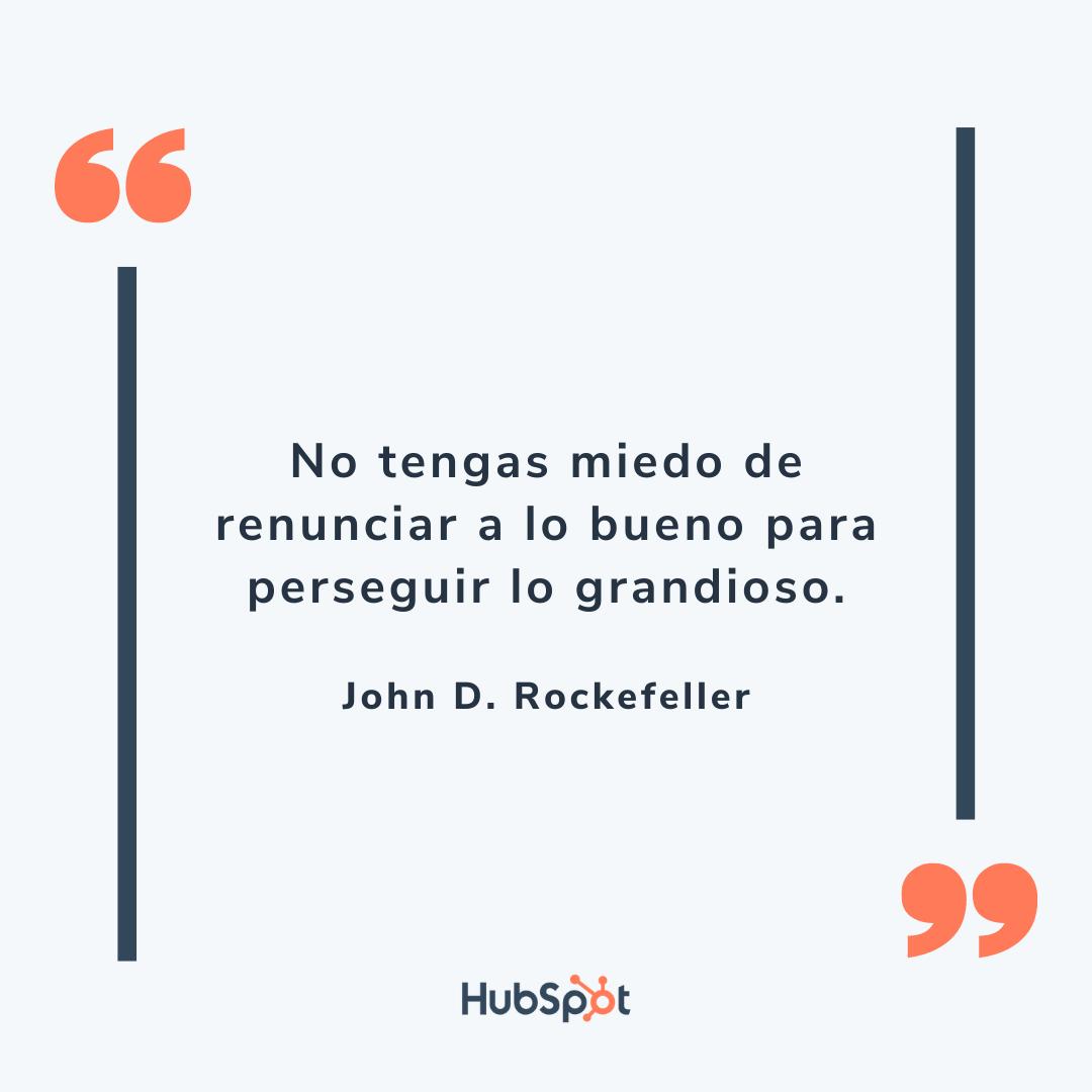 Frase de superación en ventas de Rockefeller