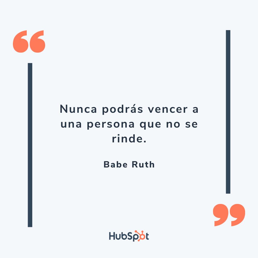 Frase de ventas exitosas de Babe Ruth
