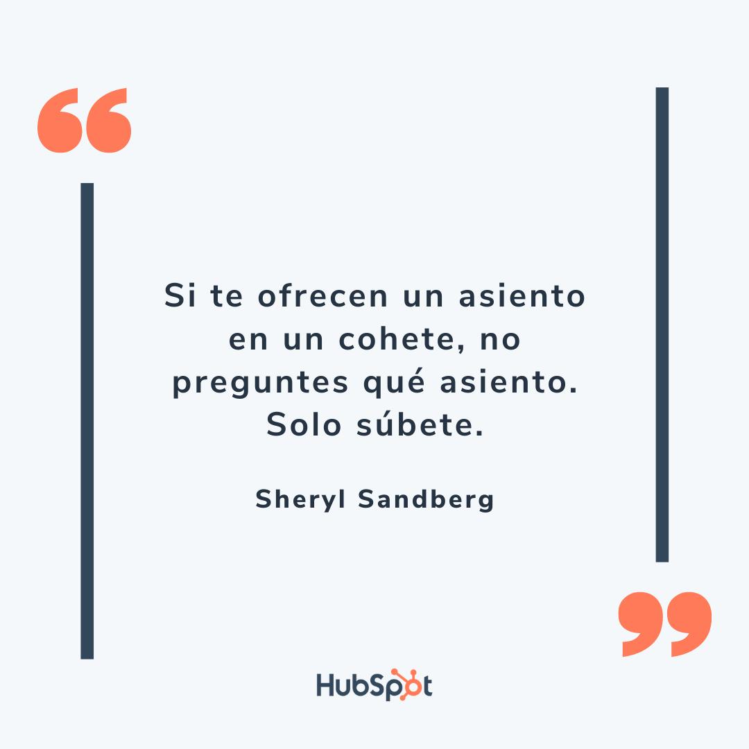 Frase graciosa de ventas de Sandberg