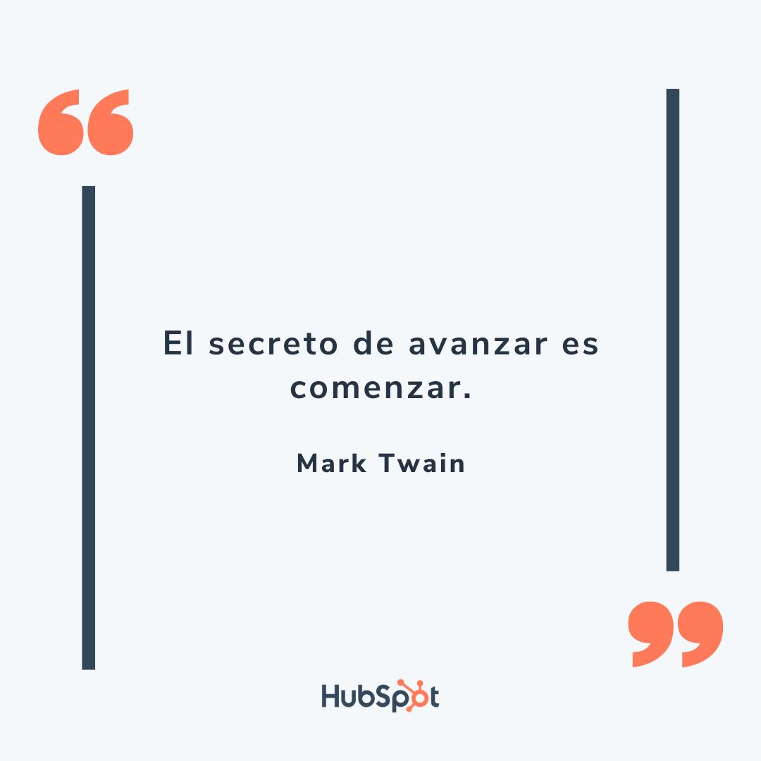 Frase de ventas exitosas de Twain