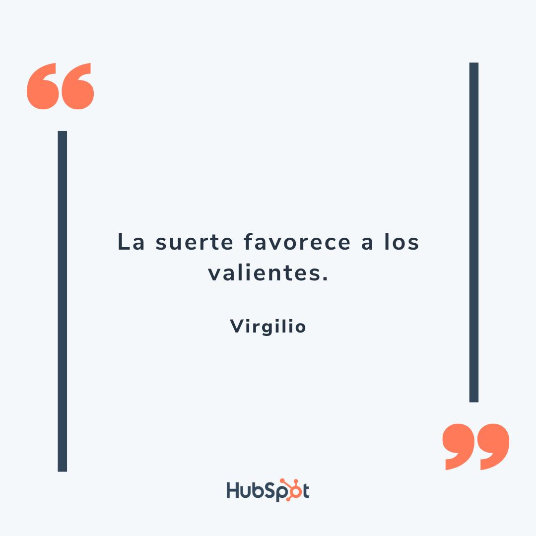 Frase motivadora para tu equipo de ventas de Virgilio