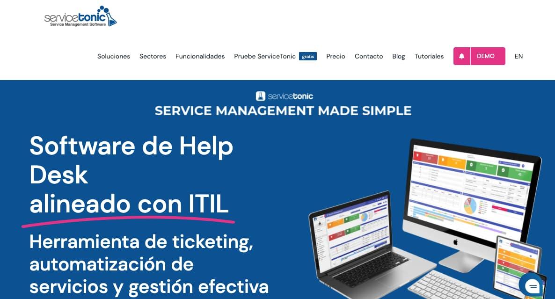 Herramienta de gestión de servicio: Servicetonic