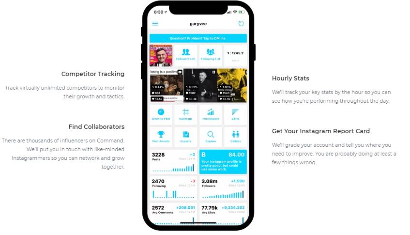 lista de herramientas para ver estadísticas de Instagram