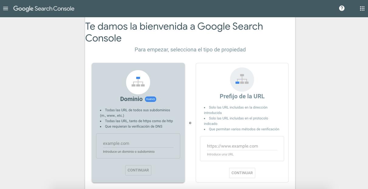 Herramientas para realizar análisis web: Search Console