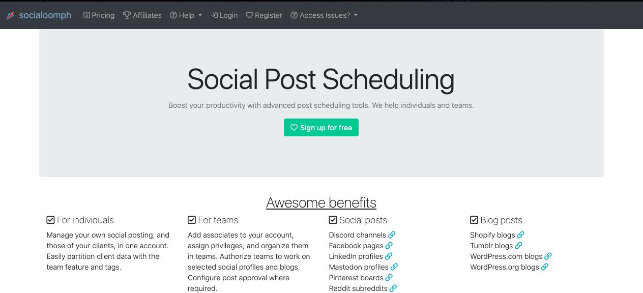 SocialOomp, herramienta para programar publicaciones en Facebook