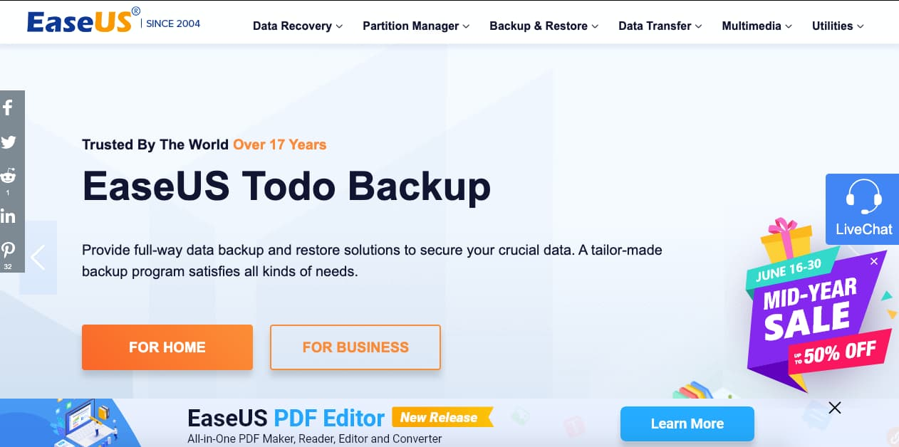 Programas para recuperar archivos: EaseUS