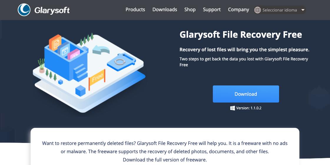 Programas para recuperar archivos: Glarysoft