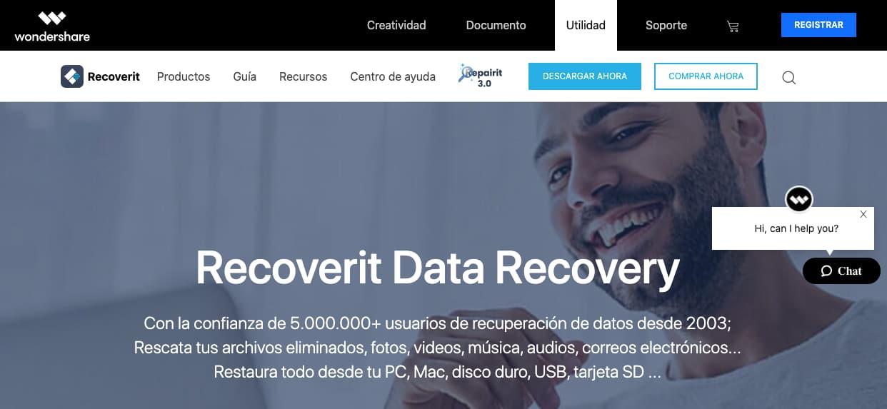 Programas para recuperar archivos: Recoverit