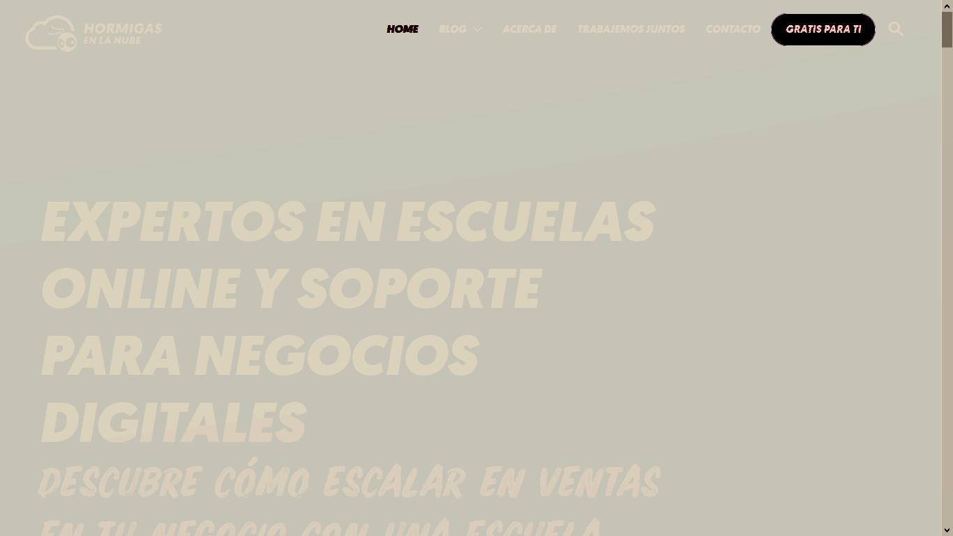 Nombre creativo de blog: Hormigas en la nube