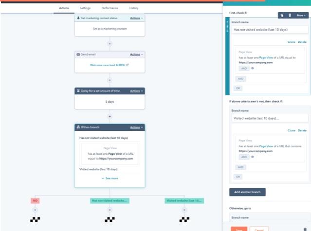 Mejor software de workflow: HubSpot