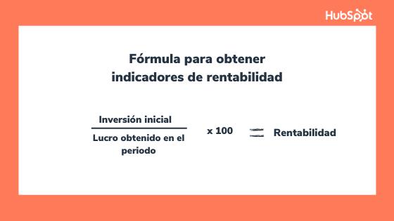 Fórmula para calcular indicadores de rentabilidad