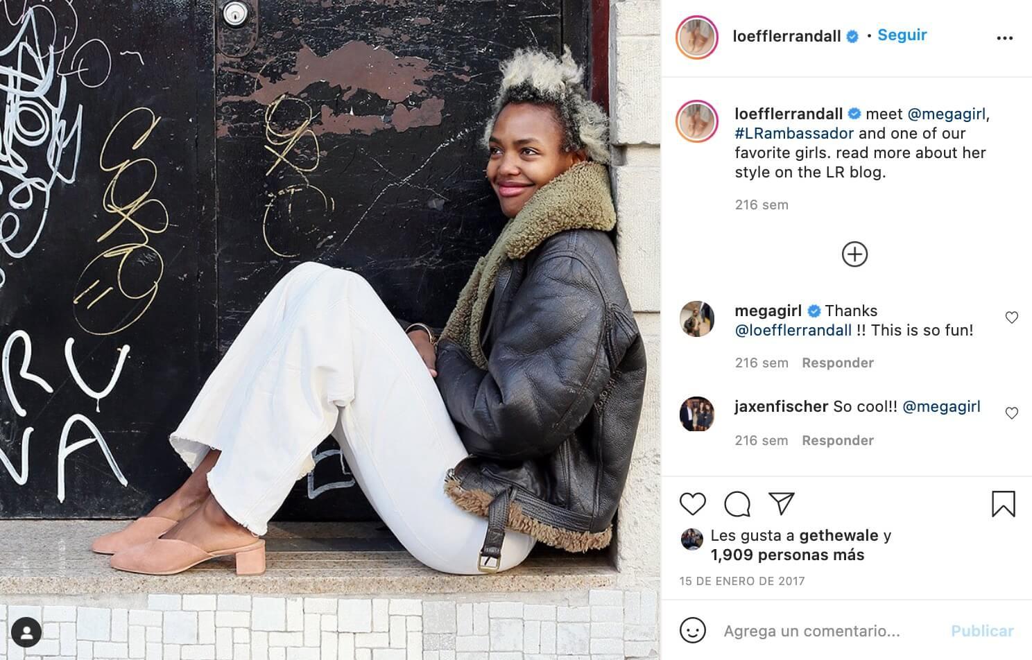 Influencers promocionando marcas para Loeffler Randall