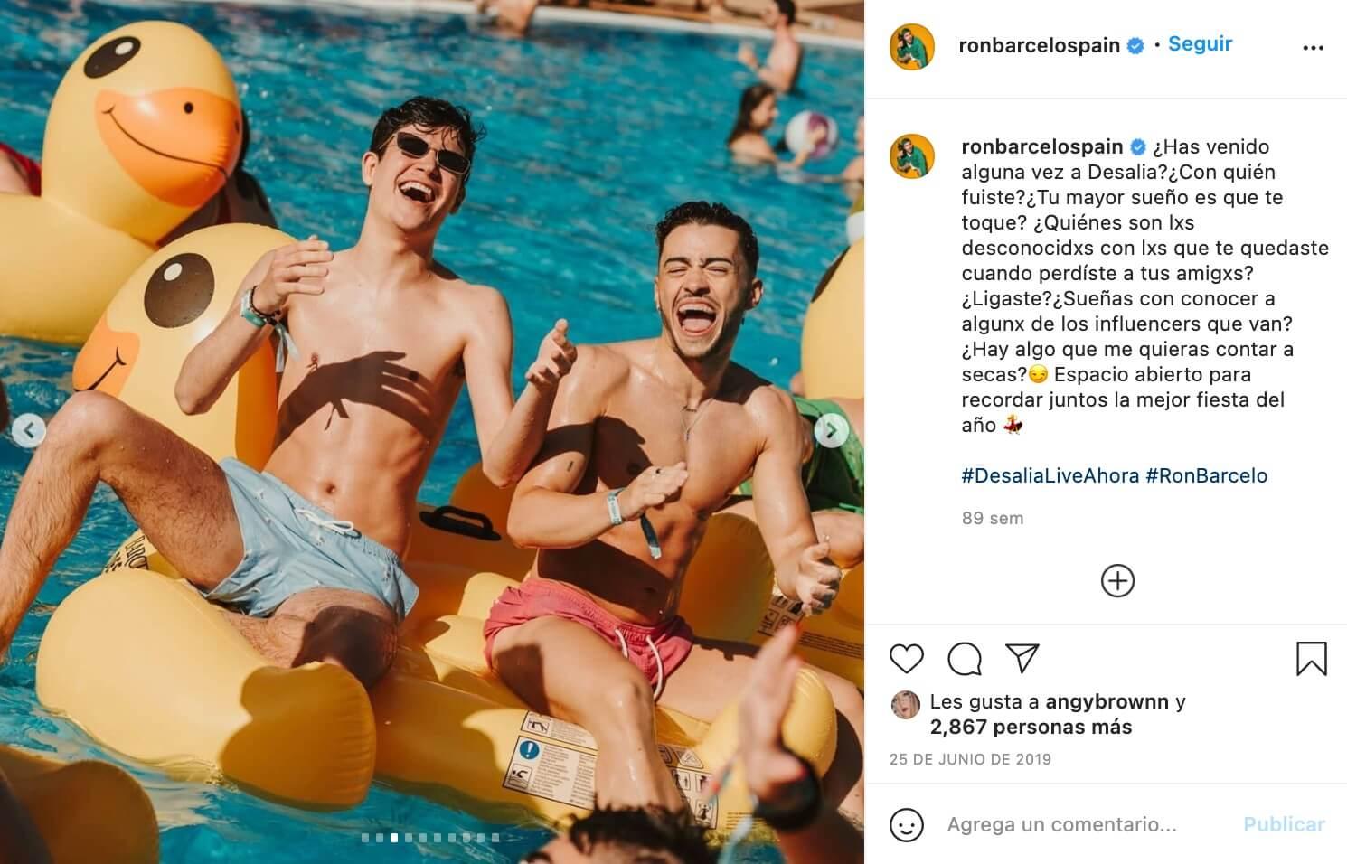 Ejemplo de marketing de influencers de Ron Barceló