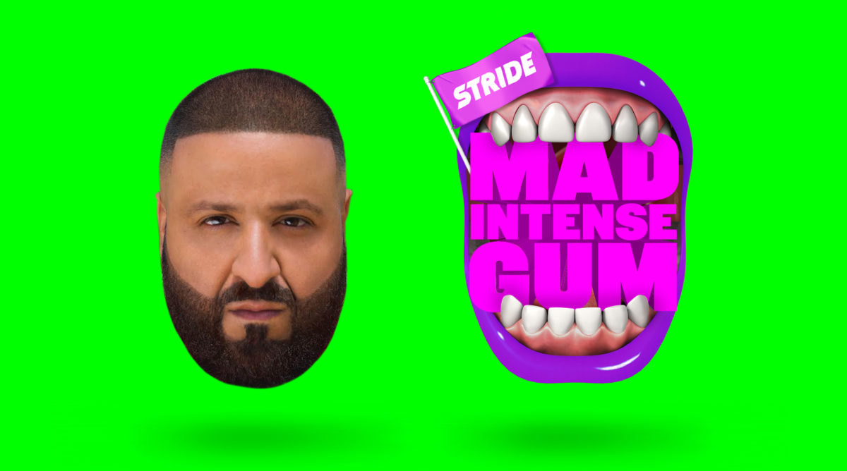 influencers promocionando marcas, DJ Khaled para Stride Gum