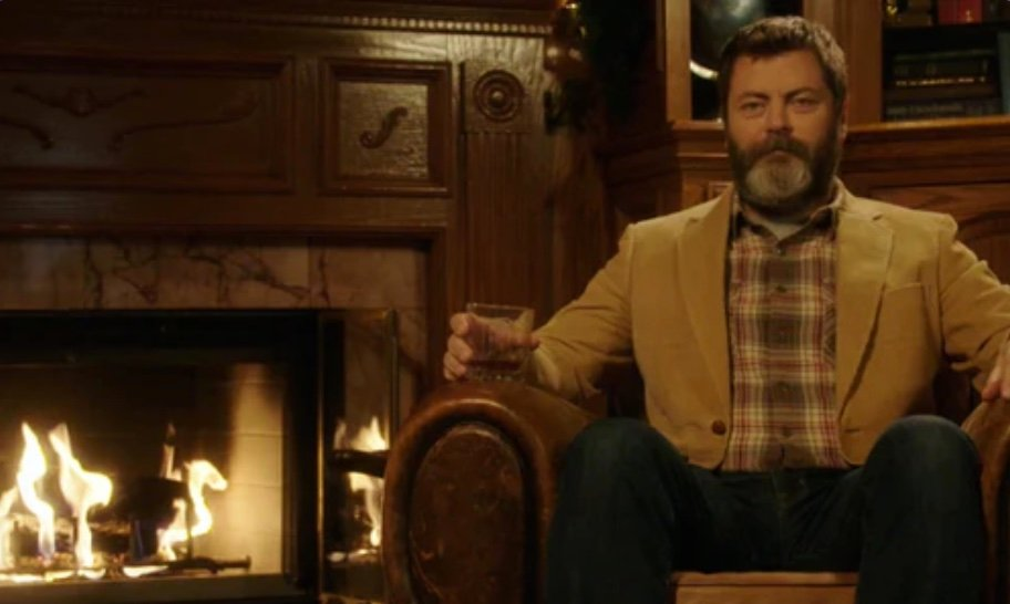 Influencers promocionando marcas,Nick Offerman para My Tales of Whisky