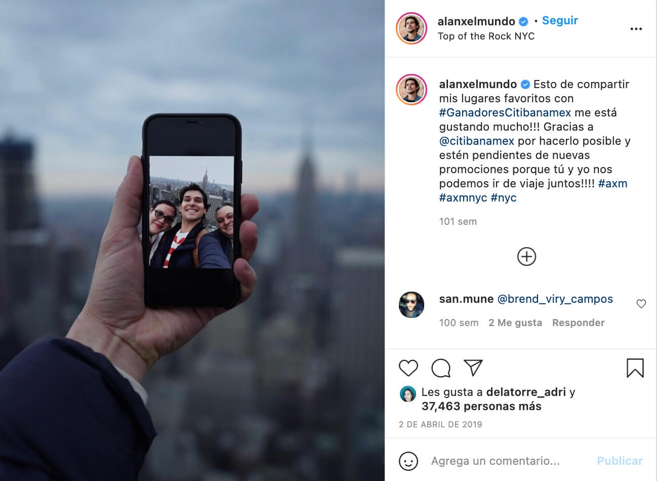 Influencers que promocionan marcas, Alan Estrada con Banamex