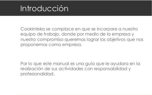 Ejemplo de manual de ventas de Cookinteka