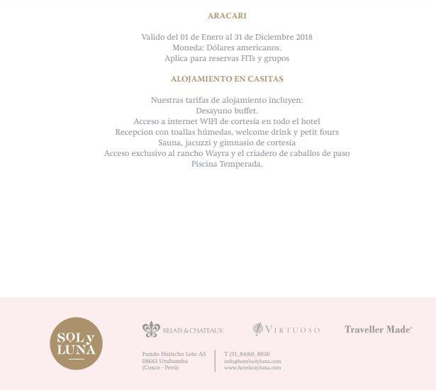 Ejemplo de manual de capacitación de ventas de Hotel Sol y Luna