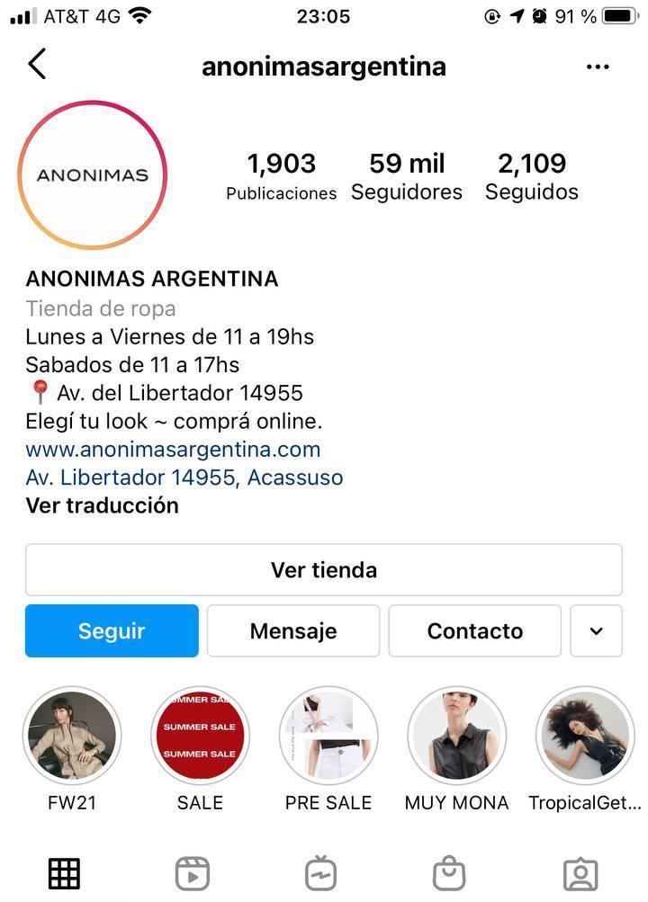 Marcas en Instagram que seguir: Anonimas