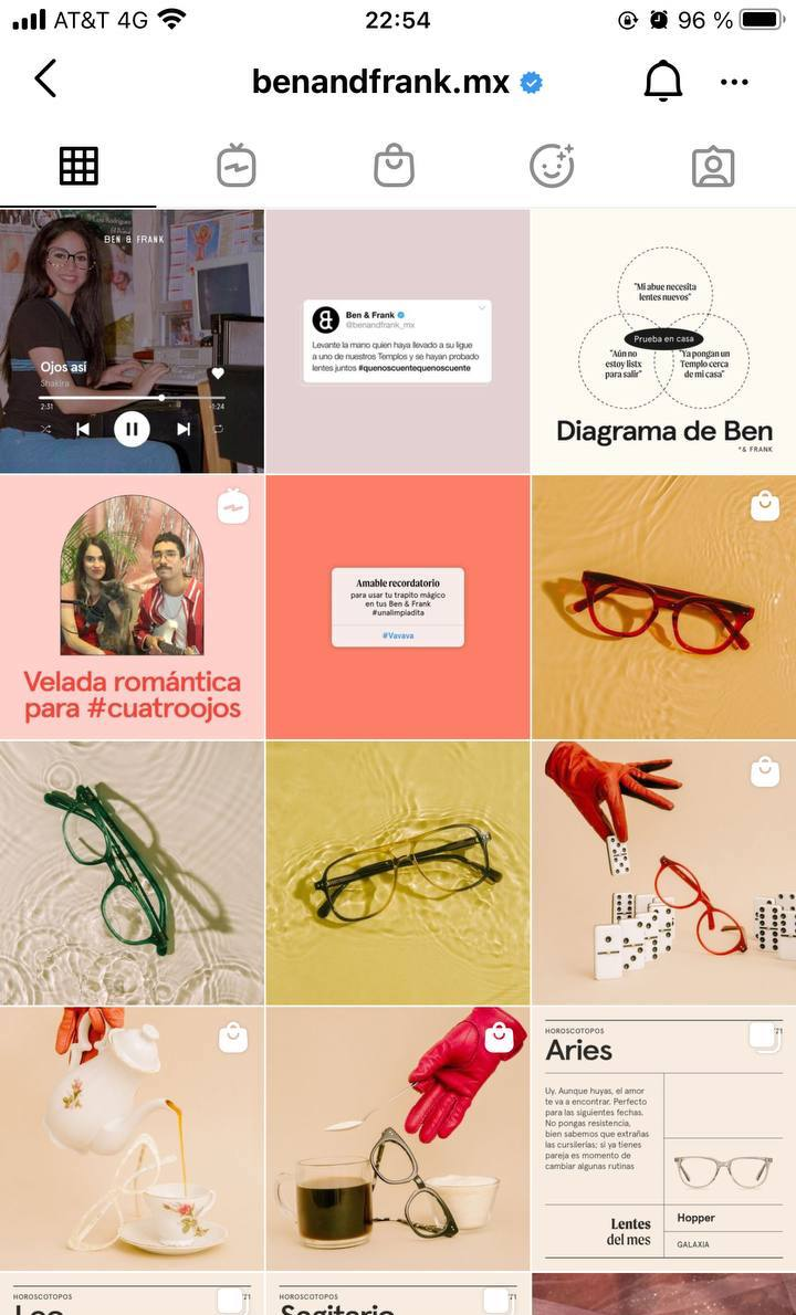 Marcas en Instagram que seguir: Ben & Frank, feed