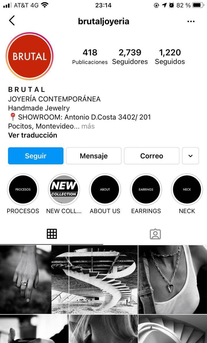 Marcas en Instagram que seguir: Brutal, joyería