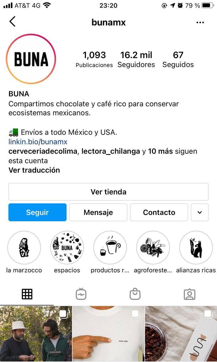 Marcas en Instagram que seguir: Buna