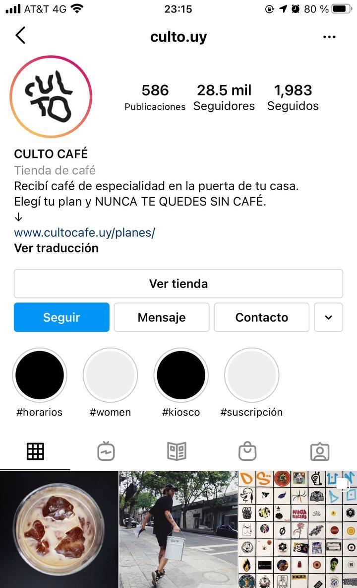 Marcas en Instagram que seguir: Culto Café