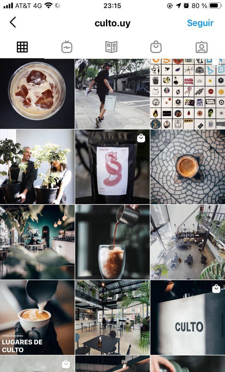 Marcas en Instagram que seguir: Culto, feed