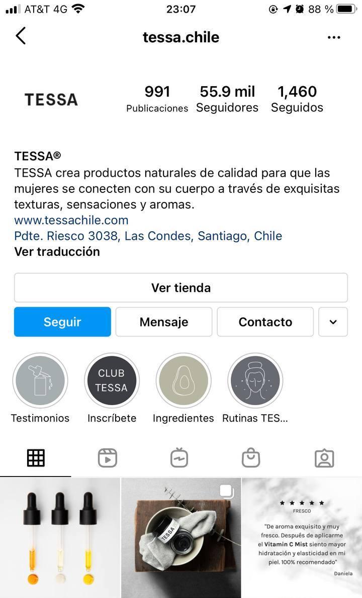 Marcas en Instagram que seguir: Tessa