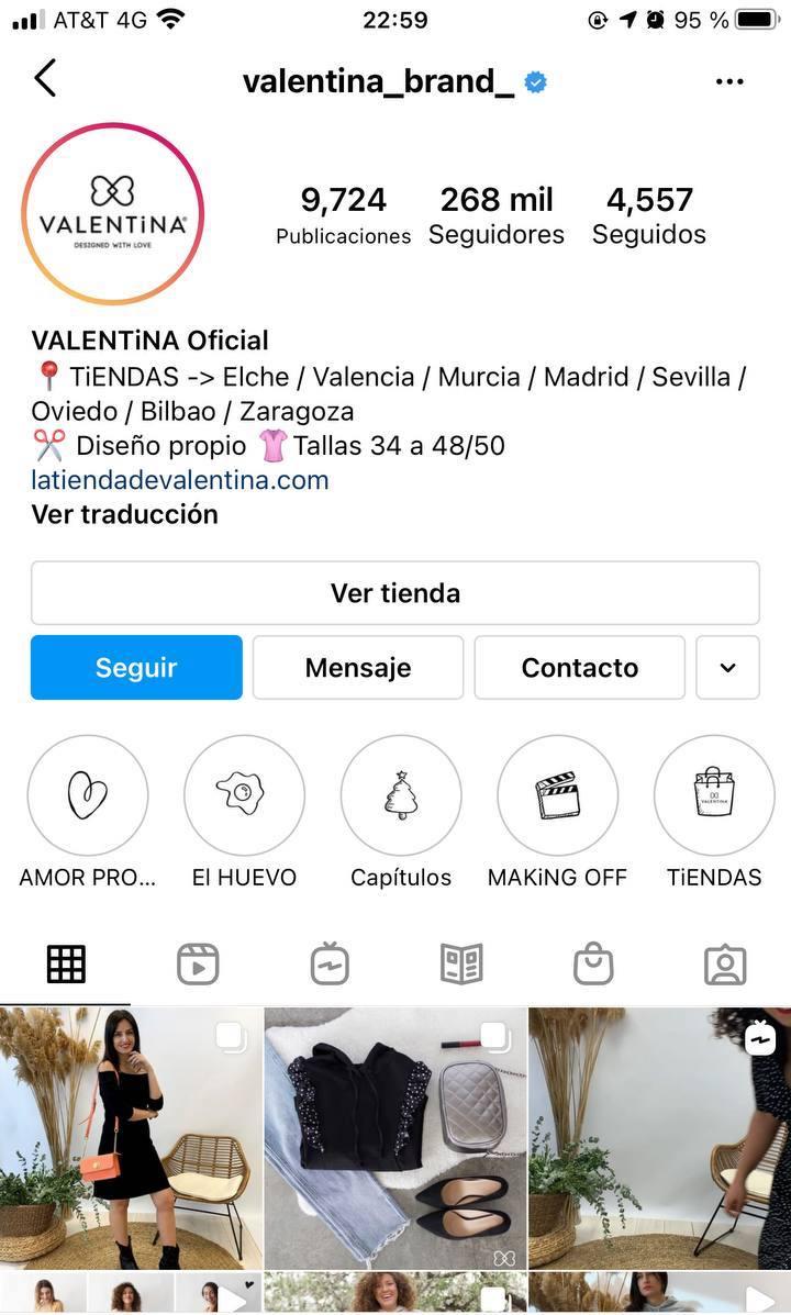 Marcas en Instagram que seguir: Valentina