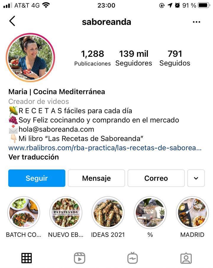 Marcas en Instagram que seguir: Saboreanda