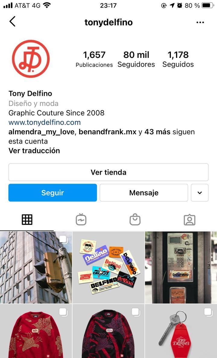 Marcas en Instagram que seguir: Tony Delfino