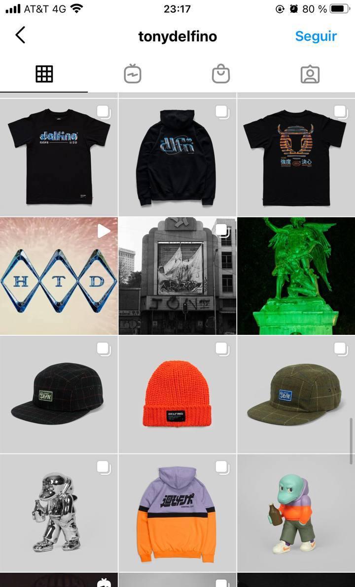 Marcas en Instagram que seguir: Tony Delfino, feed