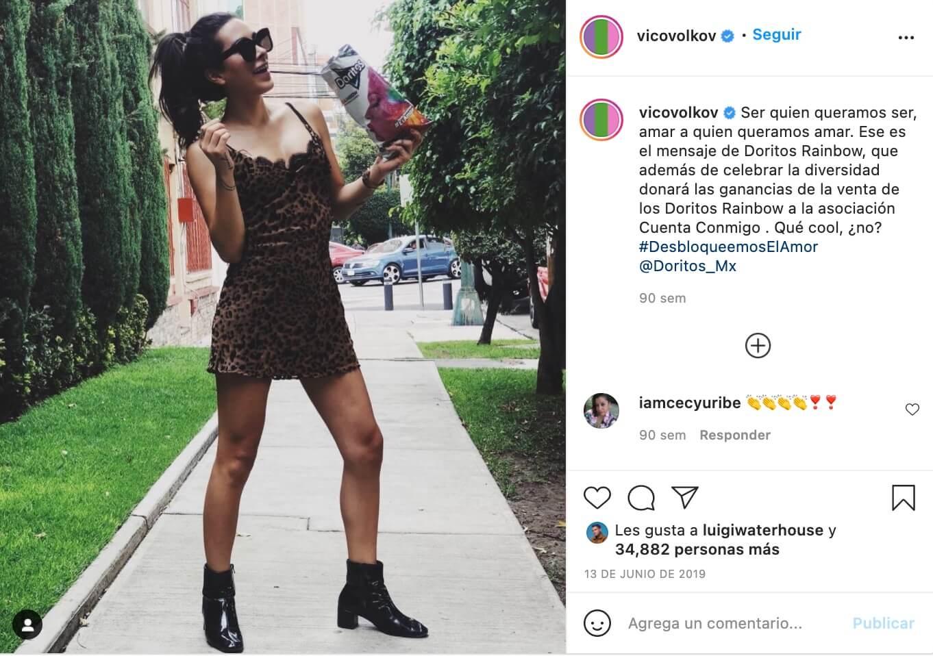 Influencers promocionando marcas, Victoria Volkova para Doritos