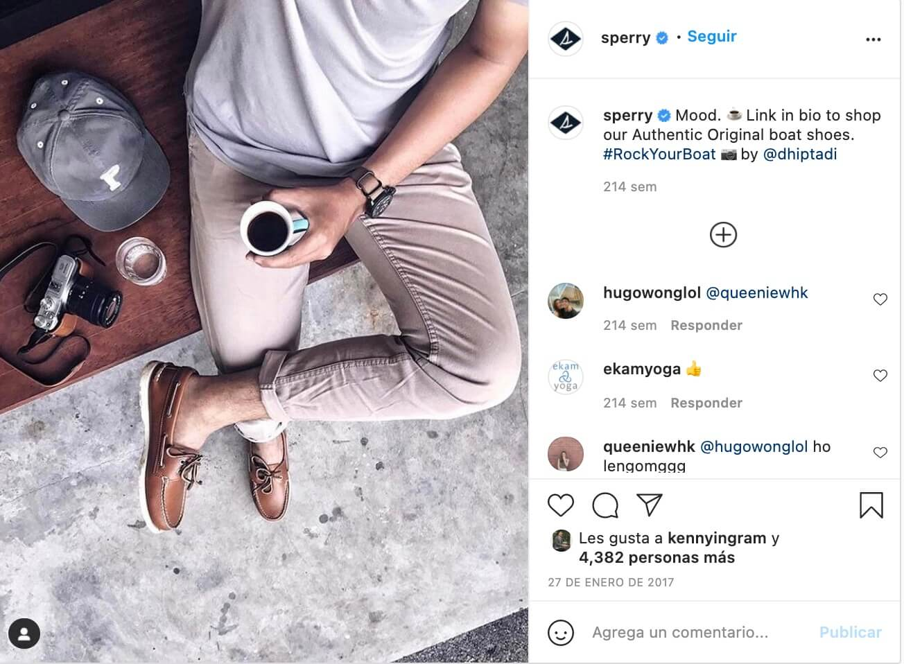 Marketing de influencia ejemplos, Sperry