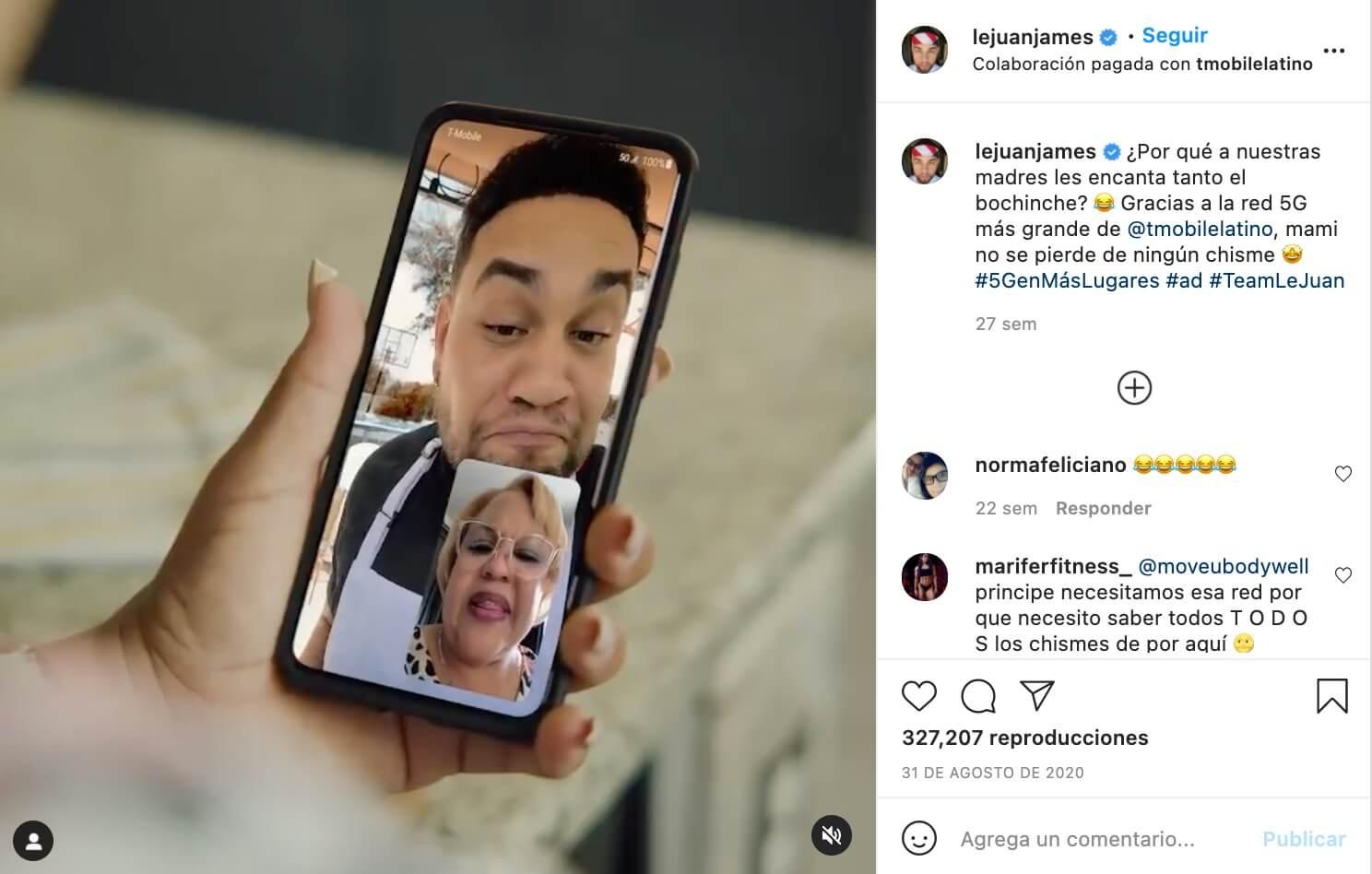 Marketing de influencia ejemplos, T-mobile