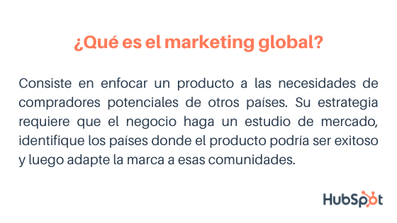 Estrategias de marketing internacional: definición